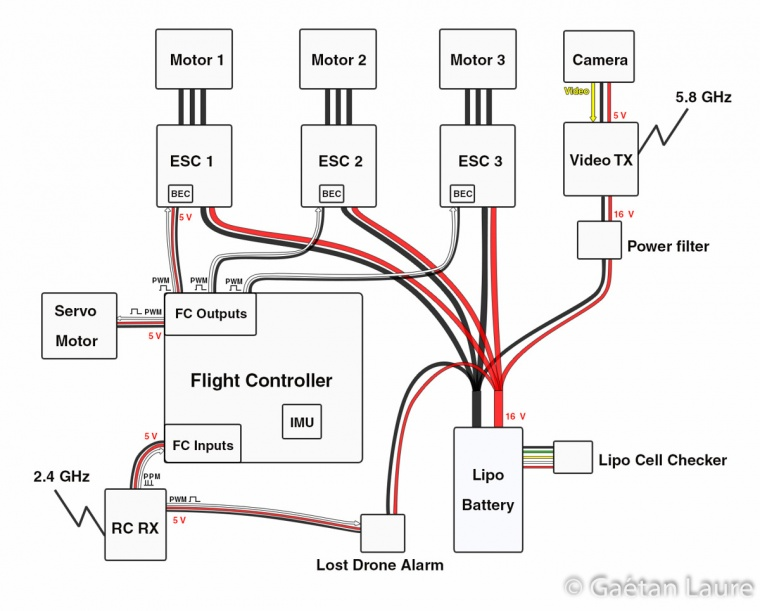quadcopter flamewheel f450 wiring diagram