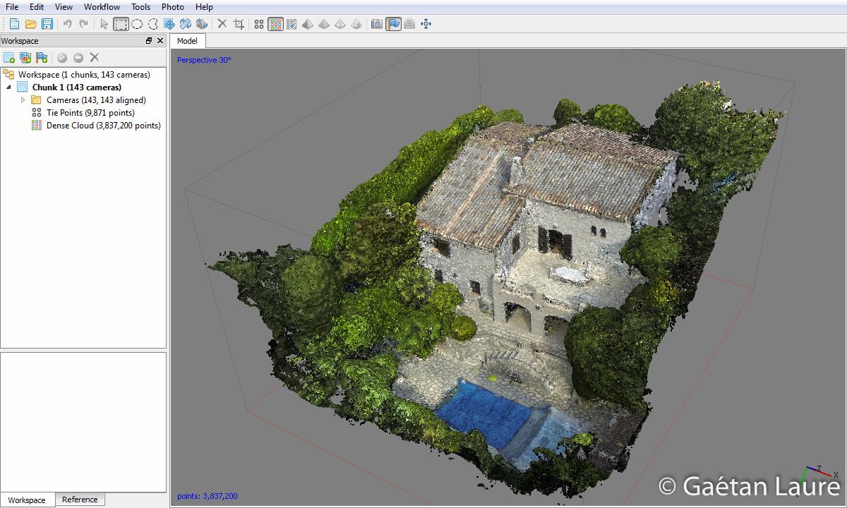 3D reconstruction of a house using a drone - Gaétan Laure